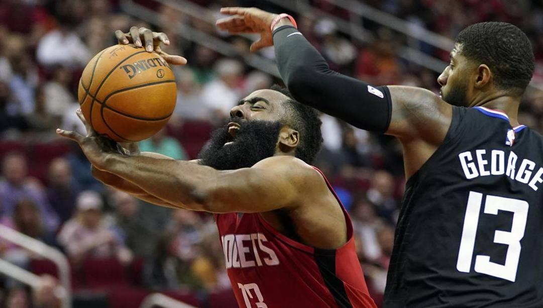 James Harden contro Paul George. Rockets e Clippers sono tra i più attesi al rientro. Ap