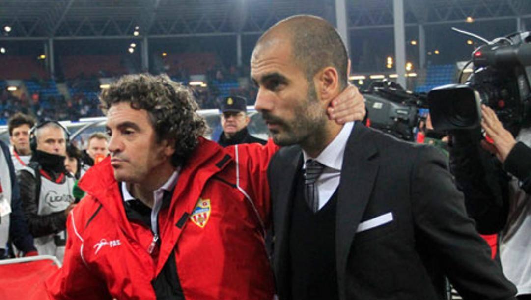 Juanma Lillo e Pep Guardiola
