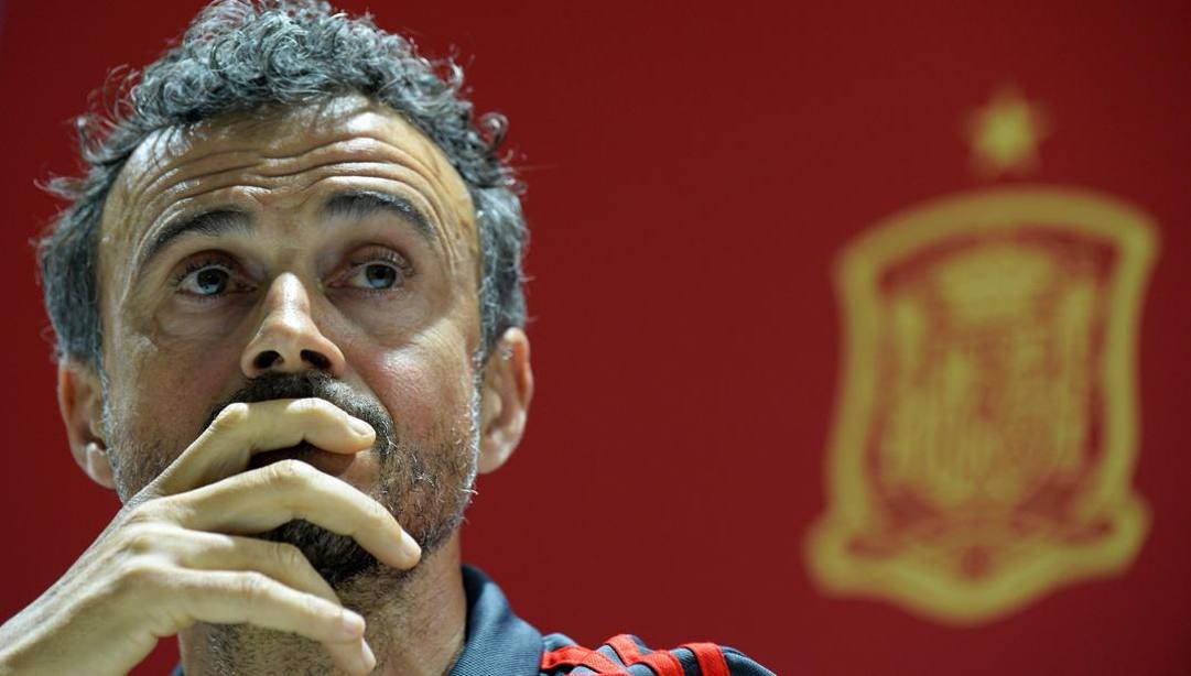 Luis Enrique, 50 anni, allenatore del Barcellona dal 2014 al 2017. Afp