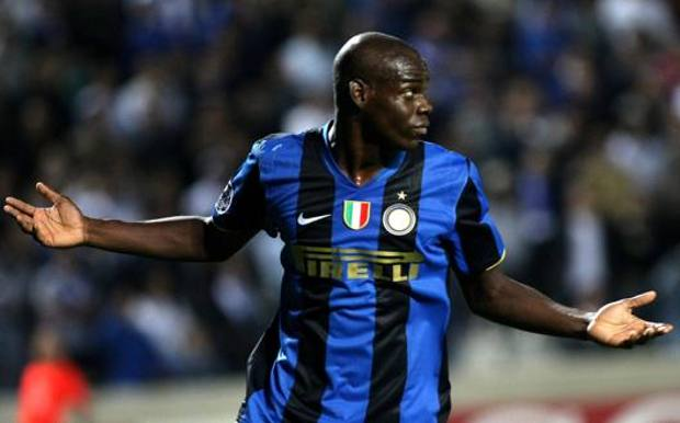 Mario Balotelli all'Inter. Lapresse