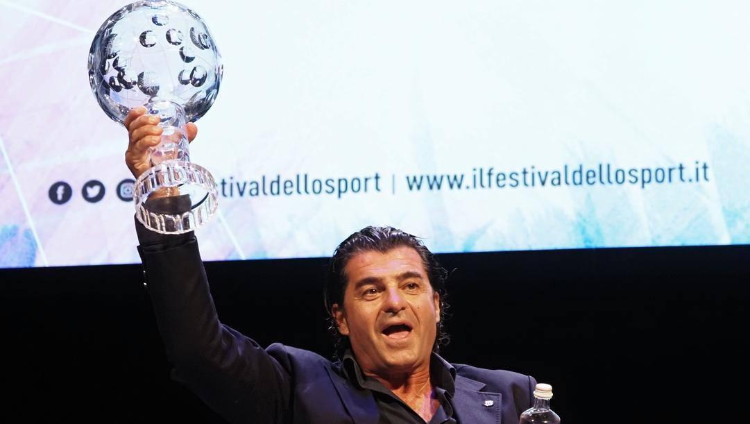 Alberto Tomba, 53 anni, all'ultimo Festival dello Sport di Trento. Bozzani