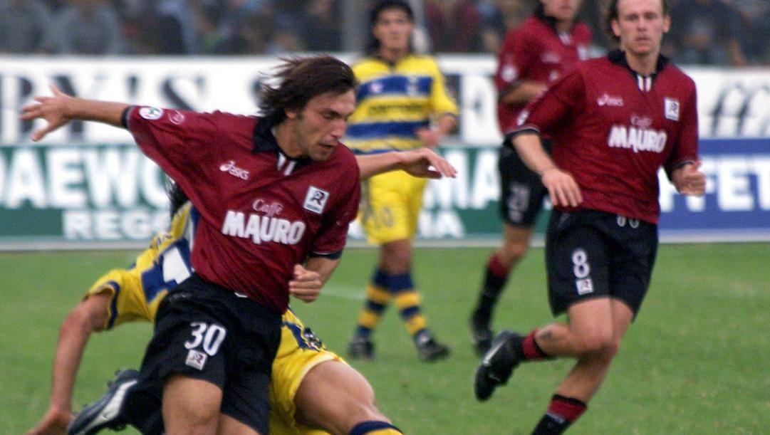 Andrea Pirlo e Roberto Baronio, volti della Reggina nella prima stagione di Serie A, 1999-2000. Ap