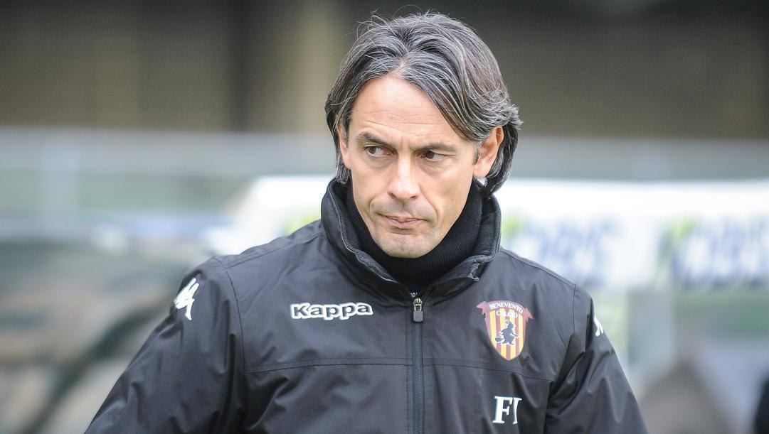 Il tecnico del Benevento Pippo Inzaghi, 46 anni. LaPresse