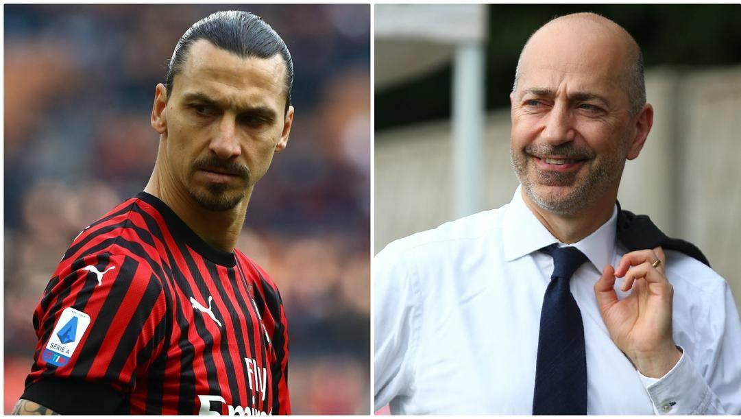 Zlatan Ibrahimovic e Ivan Gazidis