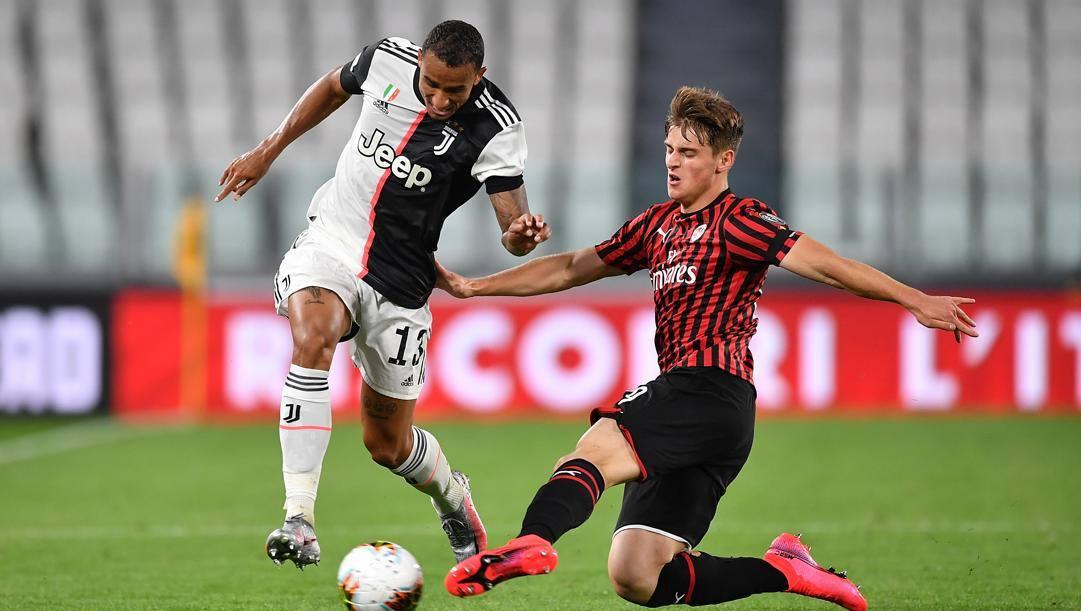Lorenzo Colombo, 18 anni, contro la Juventus nella semifinale di ritorno allo Stadium. Getty