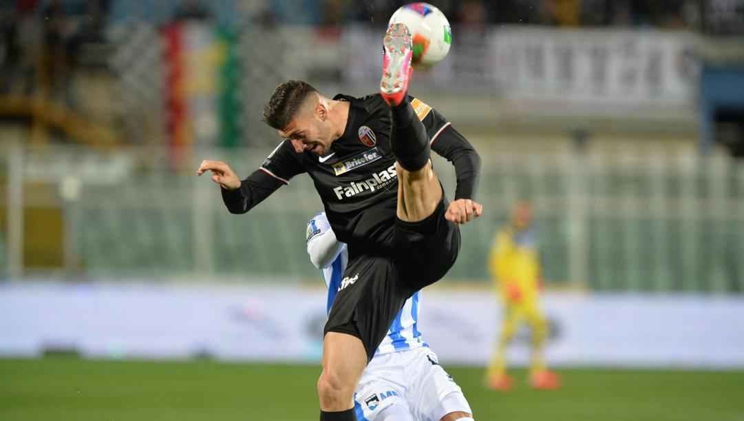 Gianluca Scamacca, 21 anni, in azione con l'Ascoli. Getty