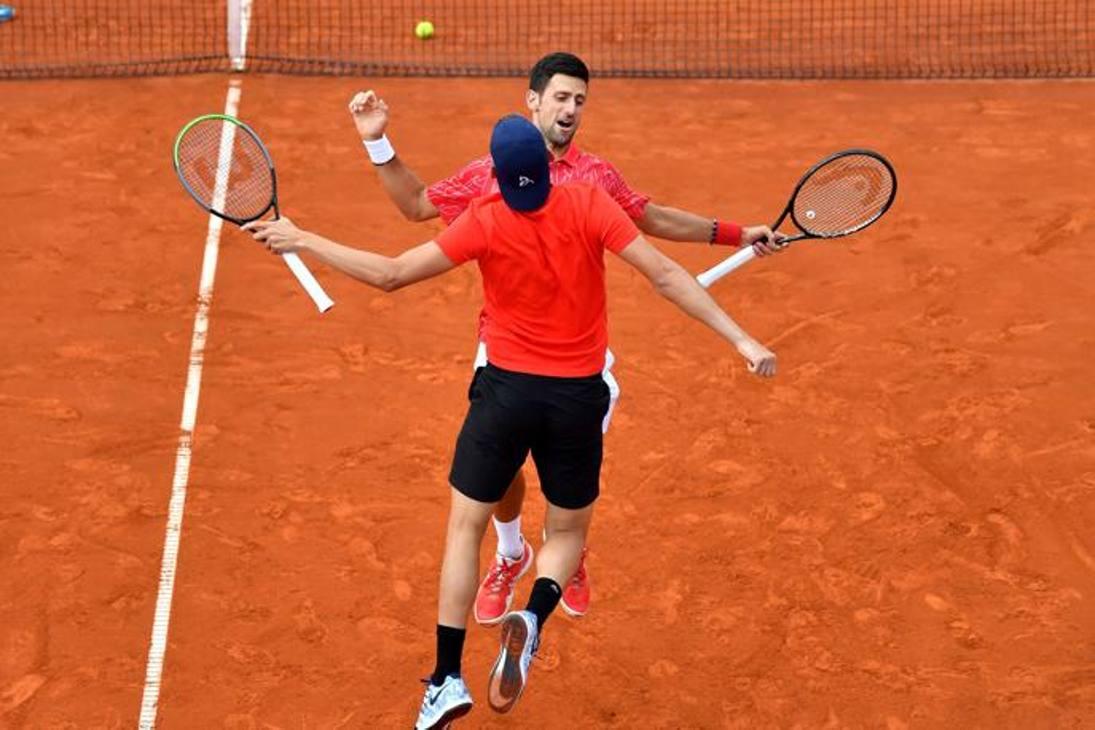 Novak Djokovic e Krajinovic