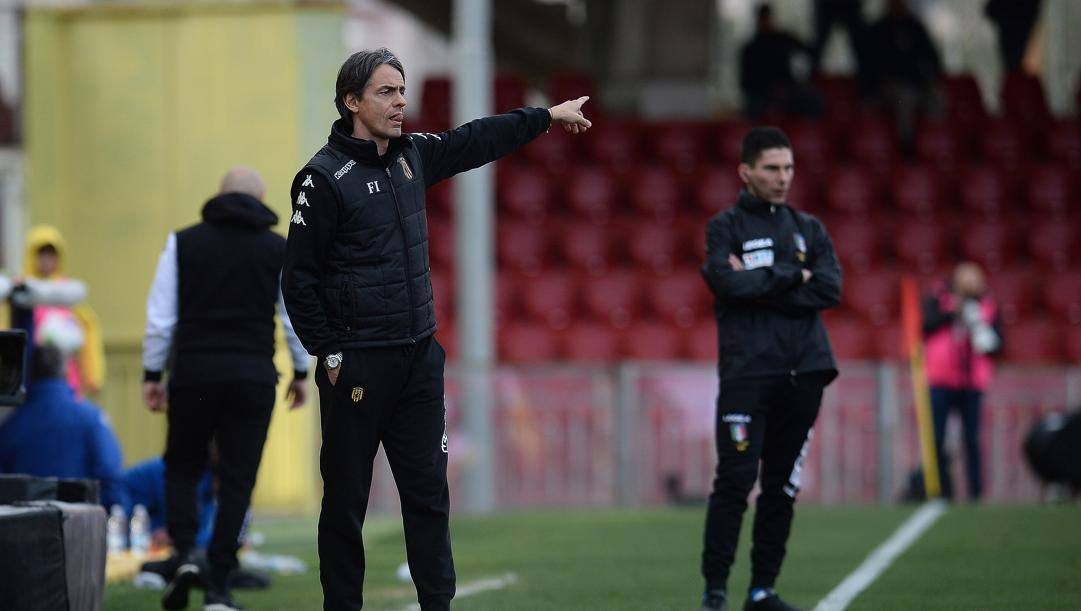 Il tecnico del Benevento Pippo Inzaghi. (Lapresse)