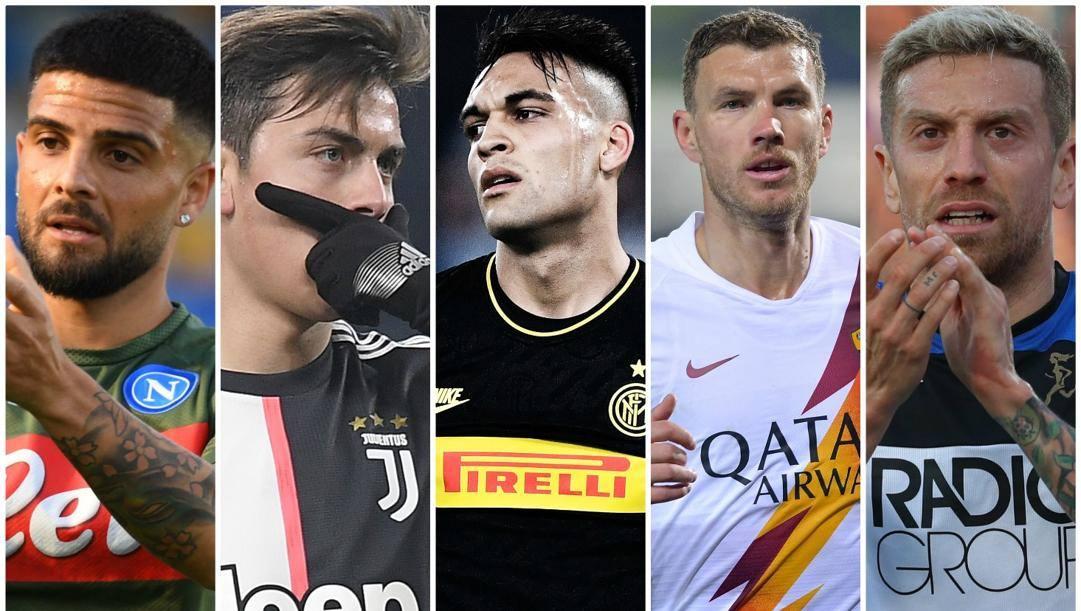Insigne, Dybala, Lautaro, Dzeko e Papu Gomez.