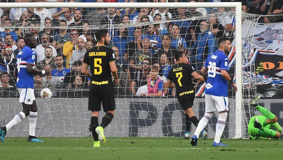 Il gol di Sanchez all'andata. Ansa