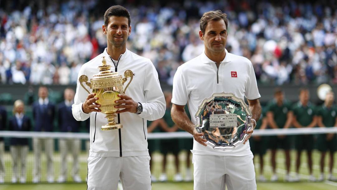 Wimbledon 2019, Novak Djokovic e Roger Federer.
