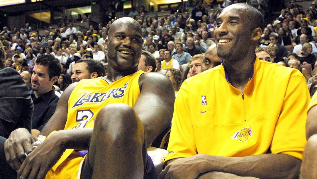 Shaquille O'Neal e Kobe Bryant hanno giocato insieme nel Lakers dal 1996 al 2004. Epa