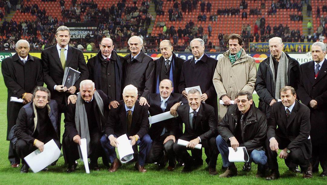 I protagonisti della Grande Inter si ritrovarono nel 2006 a San Siro nell'ambito delle celebrazioni del 50° anniversario della Coppa dei Campioni. Ansa
