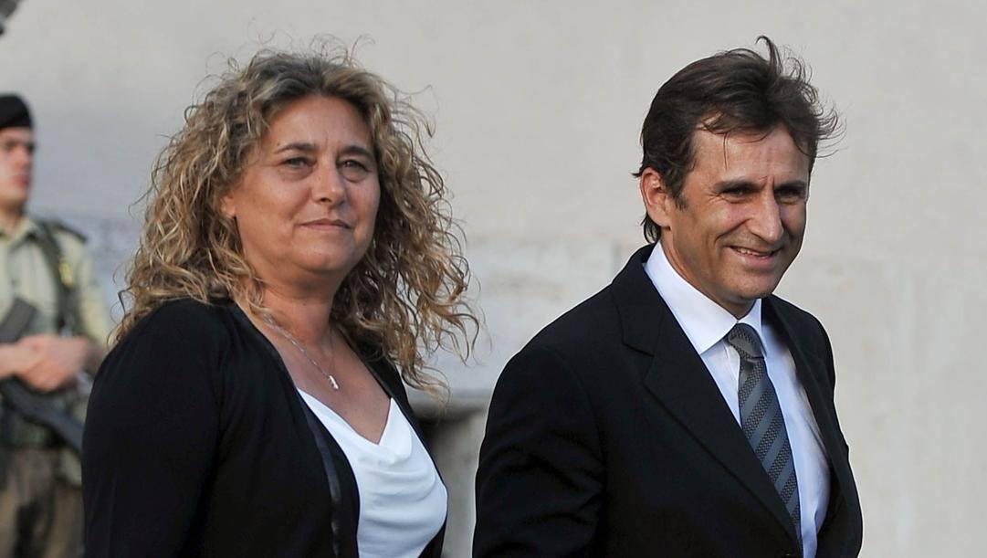 Alex Zanardi con la moglie Daniela al Quirinale. Imagoeconomica