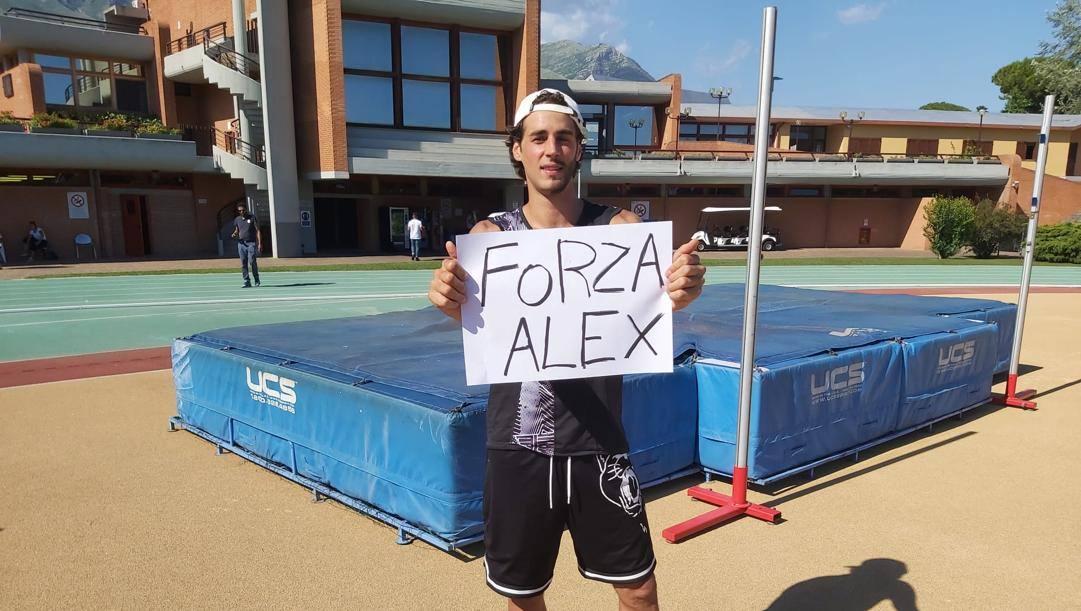 Gianmarco Tamberi, 28 anni, è tornato in pedana nel segno di Alex Zanardi
