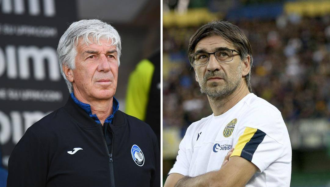 Gian Piero Gasperini e Ivan Juric. Getty-Ansa