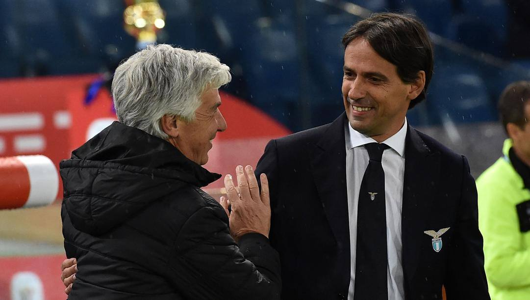 Gian Piero Gasperini e Simone Inzaghi. Getty