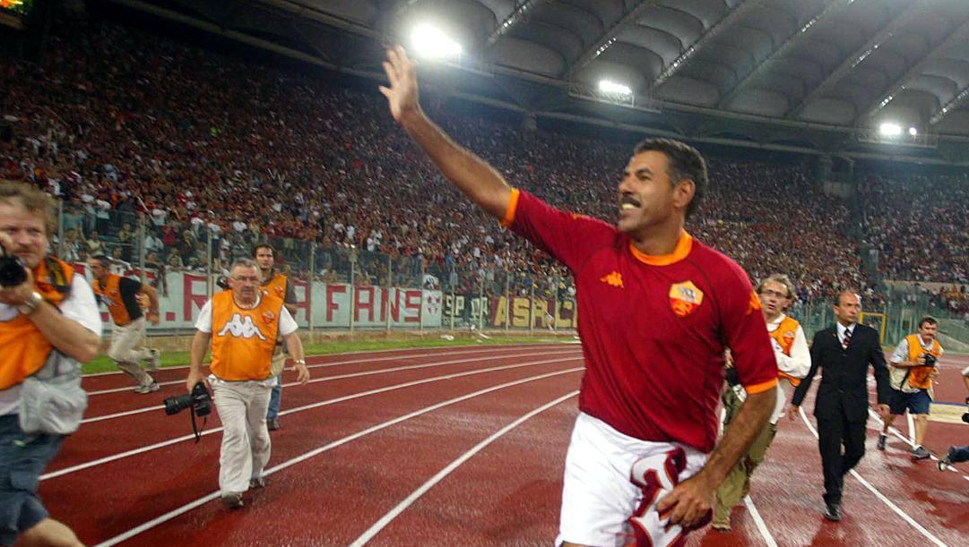 Toninho Cerezo all'Olimpico. Ansa