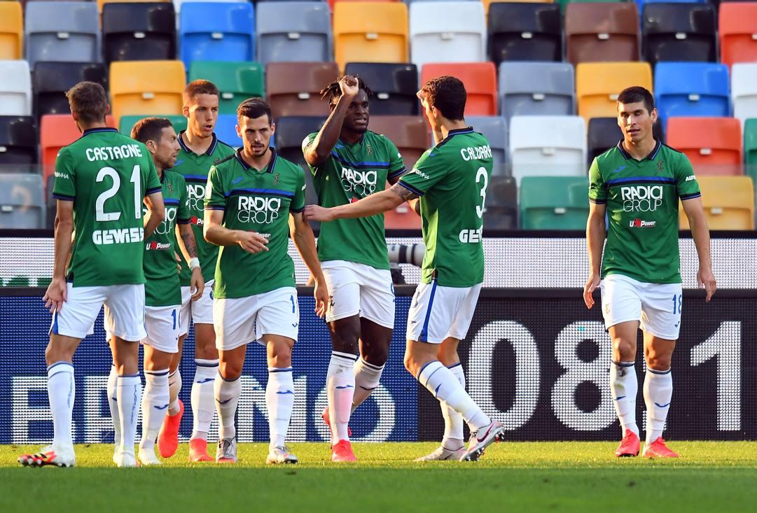 La Dea festeggia il gol di Duván Zapata, 29 GETTY