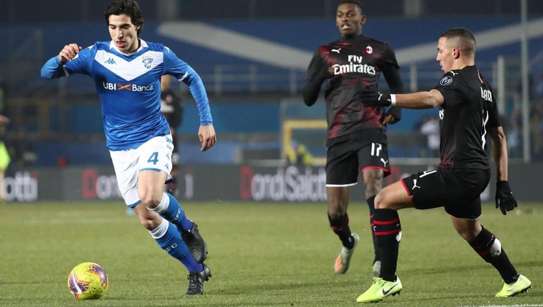 Alessandro Tonali, 20 anni, centrocampista del Brescia. Ansa