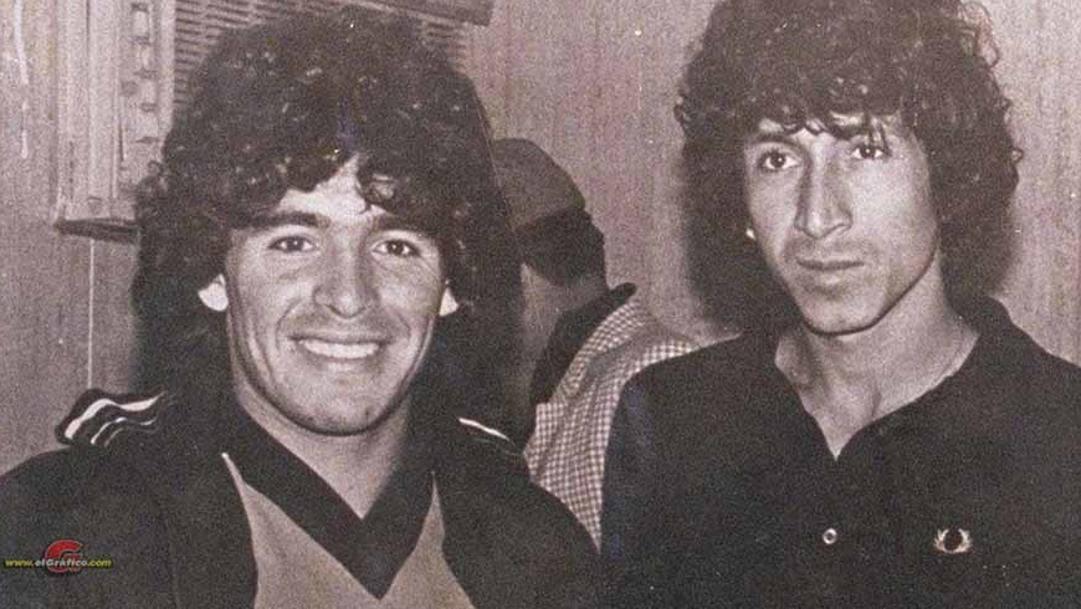 Maradona con Gonzalez.