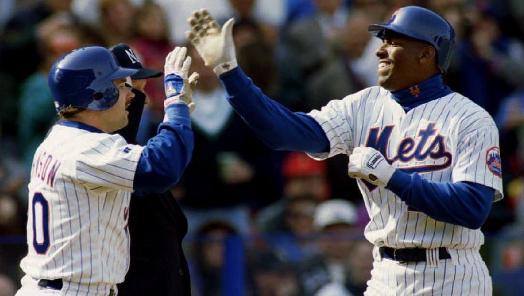 Bobby Bonilla (a destra) in maglia New York Mets. Afp