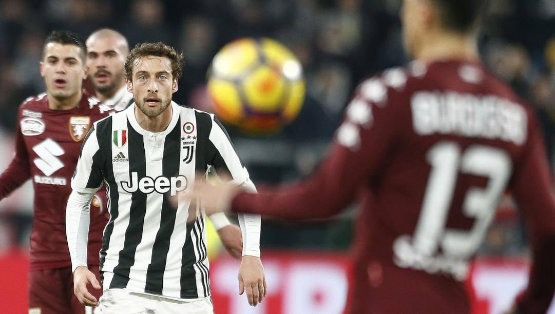 Claudio Marchisio nel derby di Coppa Italia 2017. Lapresse