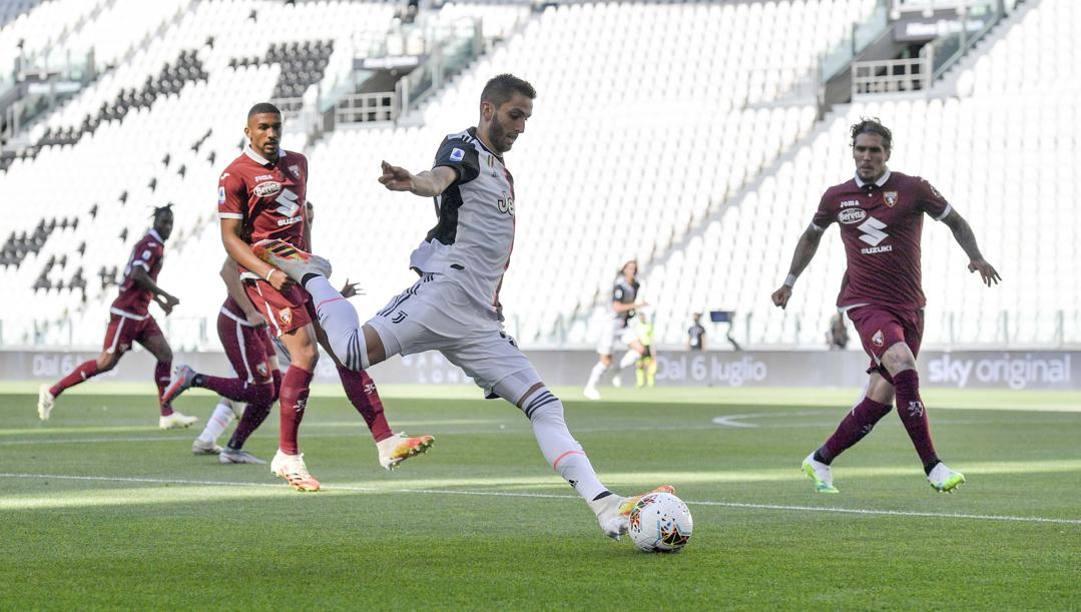 Rodrigo Bentancur, uno dei migliori della Juve nel derby vinto sul Torino. Getty