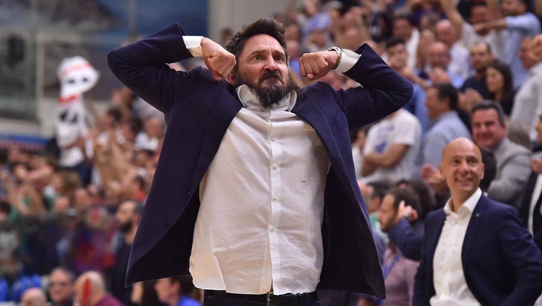Gianmarco Pozzecco, 47 anni, tecnico della Dinamo Sassari. Ciamillo
