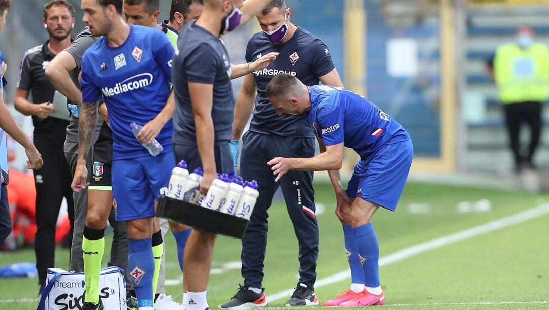 Ribery dolorante a Parma. Getty