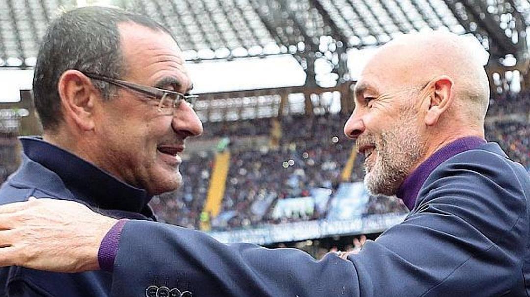 Maurizio Sarri e Stefano Pioli. Liverani