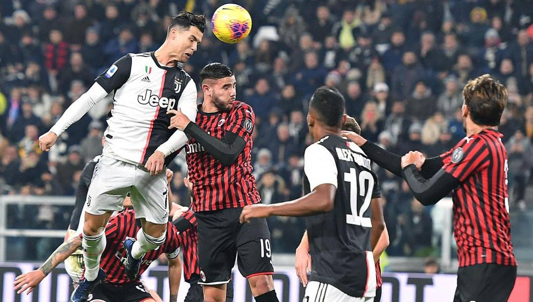 Patatrac Romagnoli-Kjaer, Ronaldo la chiude: sei minuti della ripresa, 0-2 Juventus