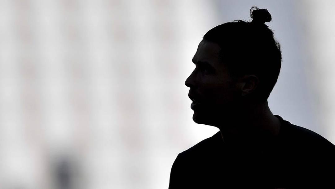 Un profilo nel buio di Cristiano Ronaldo, 35 anni. Getty