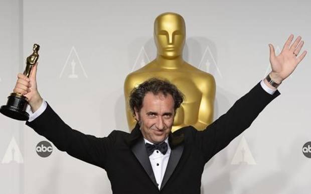 Paolo Sorrentino, 50 anni, dopo la vittoria dell'Oscar nel 2014. Epa