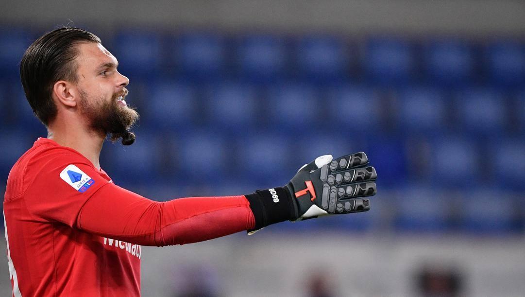 Bartlomiei Dragowski, 23 anni, portiere della Fiorentina. Lapresse