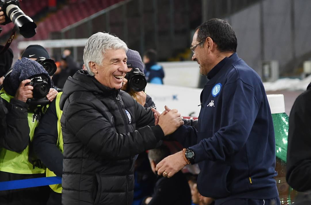 Gian Piero Gasperini e Maurizio Sarri. Getty