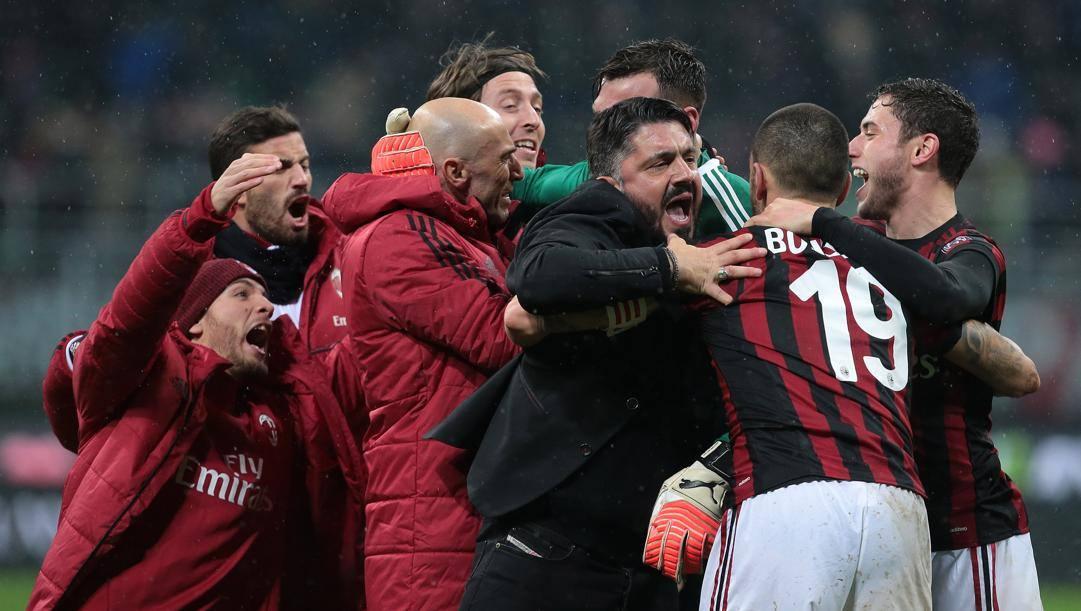 Un'esultanza di Gattuso ai tempi del Milan. Getty