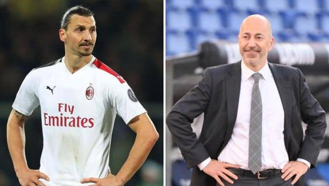 Zlatan Ibrahimovic e l'a.d. Ivan Gazidis