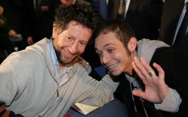 Da sinistra Graziano e Valentino Rossi. Ansa