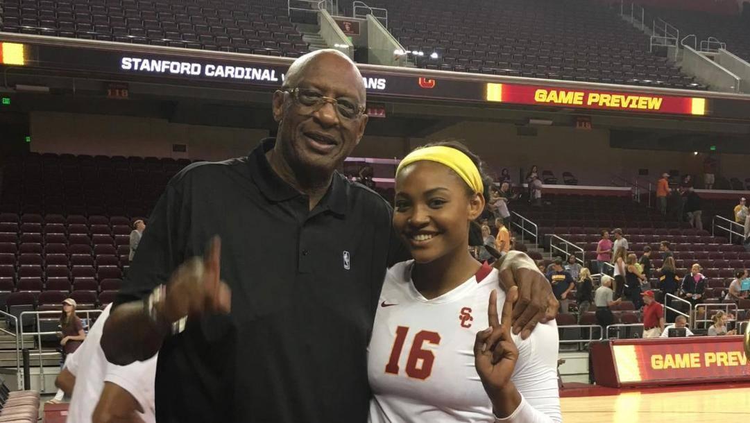 Bob Lanier con la figlia Khalia