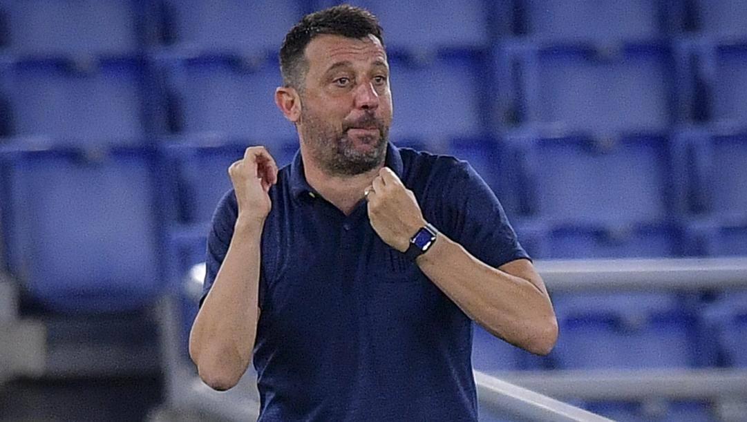 Il tecnico del Parma, D'Aversa. LaPresse