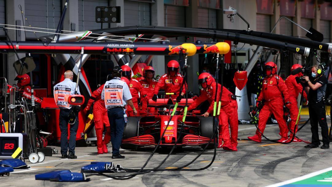 Leclerc e i guai Ferrari. Getty
