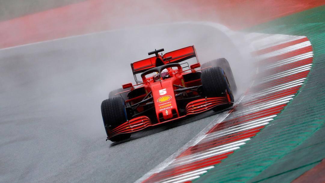La Ferrari di Sebastian Vettel. Afp