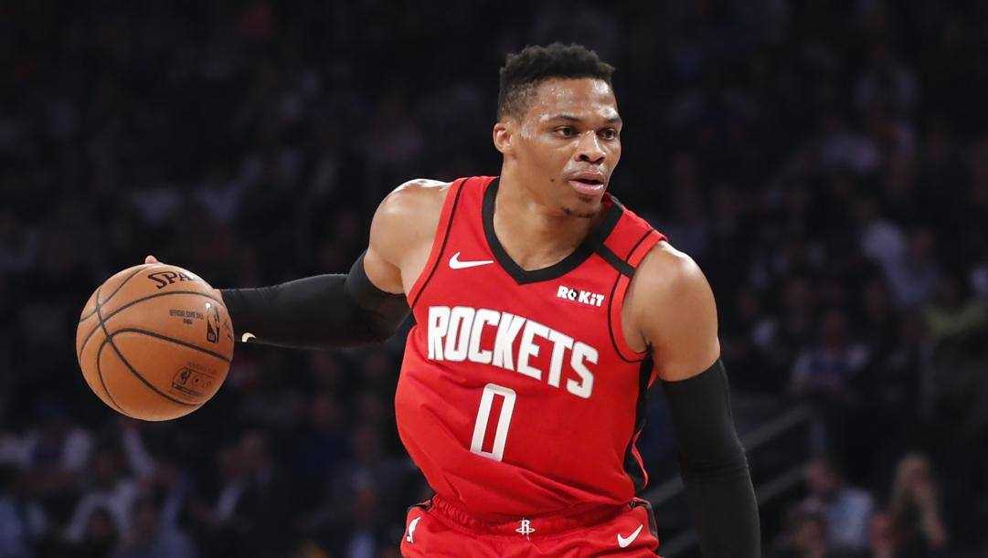 Russell Westbrook, prima stagione a Houston. LaPresse