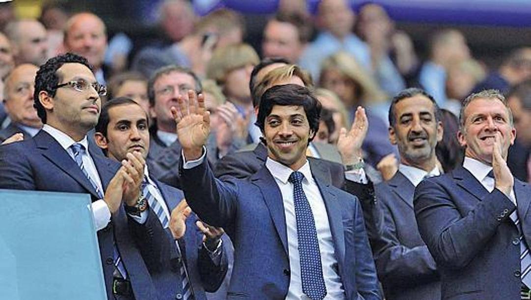 Il proprietario del Manchester City, lo sceicco di Abu Dhabi, Mansour bin Zayed al-Nahyan. Ansa