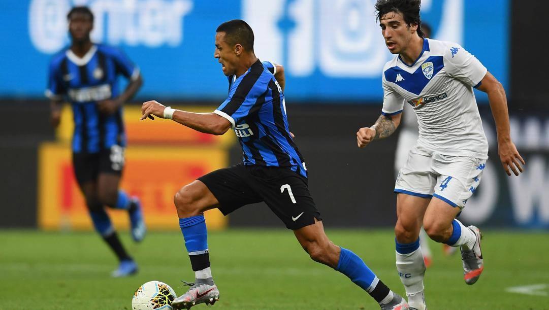 Alexis Sanchez, 31 anni, attaccante dell'Inter, in prestito dallo United. Ap