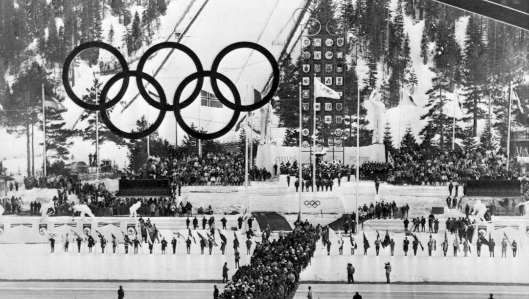 La cerimonia dei Giochi invernali 1960 a Squaw Valley. Ap