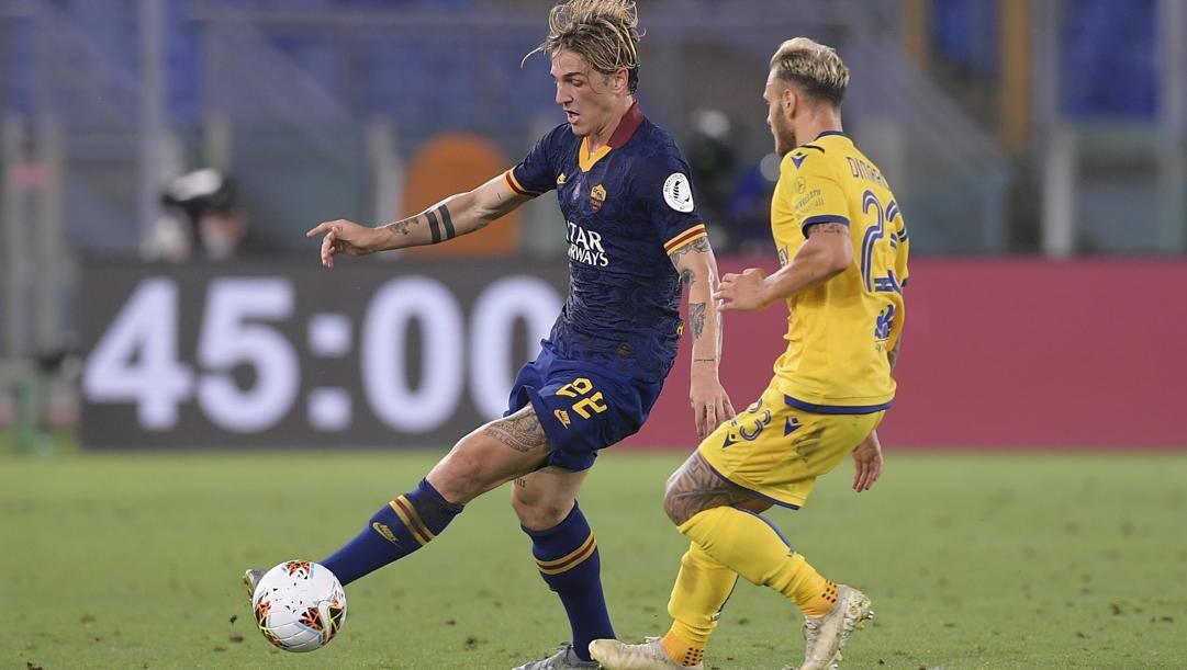 Nicolò Zaniolo contro il Verona. LaPresse