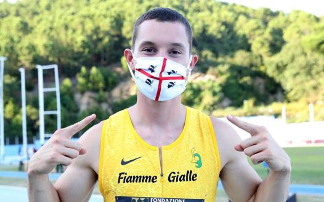 Filippo Tortu, 22 anni. Colombo