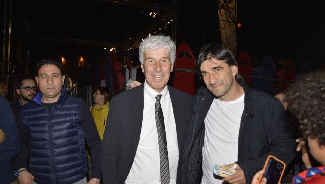 Gian Piero Gasperini con Ivan Juric